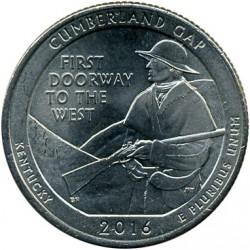 Coin > ¼dollar, 2016 - USA  (Cumberland Gap National Historical Park) - reverse