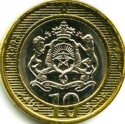 Монета > 10дирхамов, 2002 - Марокко  - reverse