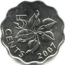 Moneta > 5centów, 1995-2010 - Suazi  - reverse