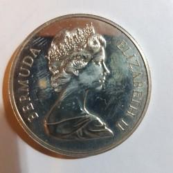 Moneda > 1dólar, 1972 - Bermudas  (Aniversario de Plata de la Boda Real) - obverse