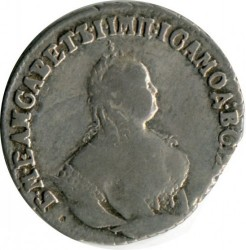 Pièce > 10kopecks(grivennik), 1747-1757 - Russie  - reverse