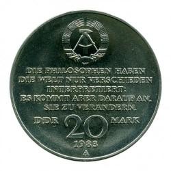 Moneta > 20marchi, 1983 - Germania - GDR  (100° anniversario - Morte di Karl Marx) - obverse