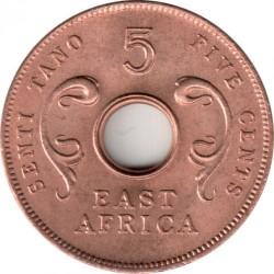 Монета > 5цента, 1964 - Британска Източна Африка  - obverse