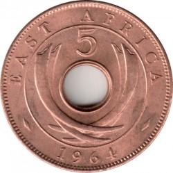 Монета > 5цента, 1964 - Британска Източна Африка  - reverse