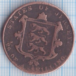 Moeda > 1/26shilling, 1841-1861 - Jersey  - reverse