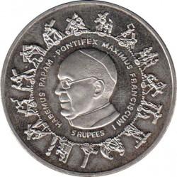 Moneta > 5rupie, 2013 - Seychelles  (Papa Francesco) - reverse