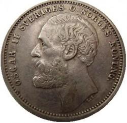 Münze > 1Krone, 1875-1876 - Schweden   - obverse