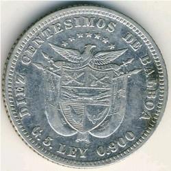 العملة > 10سنتيسيم, 1904 - بنما  - obverse