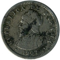 מטבע > ½סנטזימו, 1907 - פנמה  - reverse