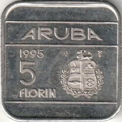 Monedă > 5florini, 1995-2005 - Aruba  - reverse