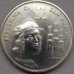 Moneta > 500lire, 1983 - San Marino  (500° anniversario - Nascita di Raffaello Sanzio) - obverse