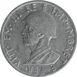 Монета > 0.5лек, 1939 - Албанія  (Не магнетик) - obverse