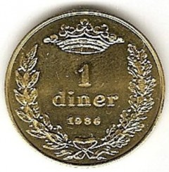 Mynt > 1diner, 1986 - Andorra  - obverse
