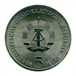 Moneda > 5marcos, 1986 - Alemania - RDA  (Palacio Sanssouci de Potsdam) - obverse