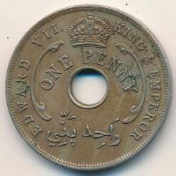 Moneda > 1penny, 1907-1910 - Àfrica Occidental Britànica  - obverse