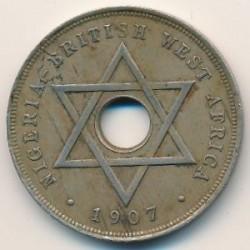 Moneda > 1penny, 1907-1910 - Àfrica Occidental Britànica  - reverse