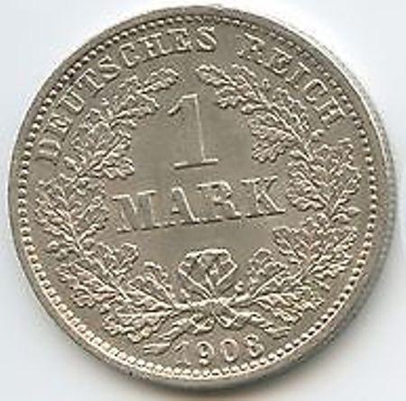 1 Mark 1908 Deutschland Münzen Wert Ucoinnet