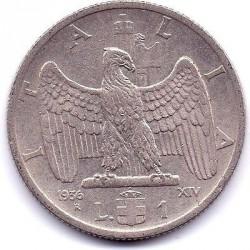Moneta > 1lir, 1936 - Włochy  - obverse