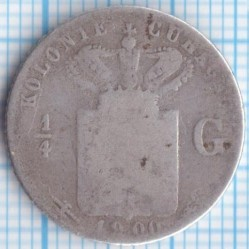 Moneda > ¼florines, 1900 - Curazao  - reverse