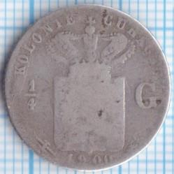 Monēta > ¼guldenis, 1900 - Kirasao  - reverse