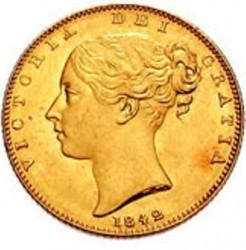 Moneta > 1funt(suweren), 1838-1874 - Wielka Brytania  - obverse