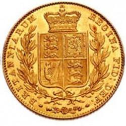 Moneta > 1funt(suweren), 1838-1874 - Wielka Brytania  - reverse
