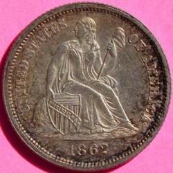 Монета > 1дайм, 1860-1873 - США  (Seated Liberty Dime) - reverse
