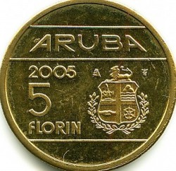 Moneta > 5florinai, 2005-2013 - Aruba  - reverse