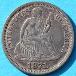Монета > 1дайм, 1860-1873 - США  (Seated Liberty Dime) - obverse