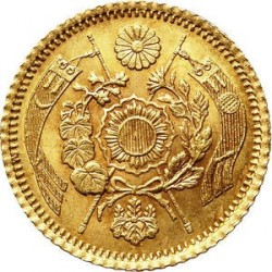 Coin > 1 yen, 1874 - Japan  (Gold /yellow color/) - reverse
