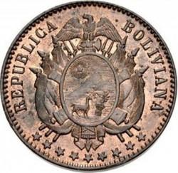 Moneda > 1centavo, 1883 - Bolivia  - obverse