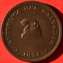 Монета > 1сентаво, 1892-1893 - Ел Салвадор  - obverse