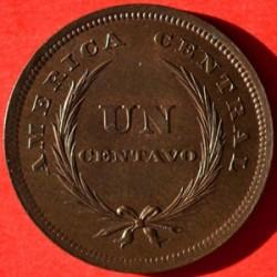 Кованица > 1цент, 1892-1893 - Салвадор  - reverse