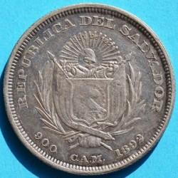 Кованица > 1позо, 1892 - Салвадор  (Flag) - obverse