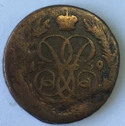 Münze > ½Kopeke(Denga), 1757-1760 - Russland  - obverse