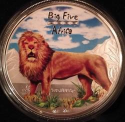 Moneta > 240franków, 2008 - Kongo - KRD  (Wielka piątka Afryki - Lew) - reverse