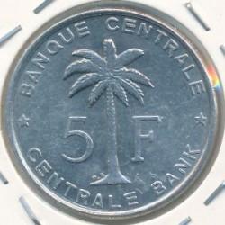 Монета > 5франков, 1956-1959 - Руанда-Урунди  - obverse