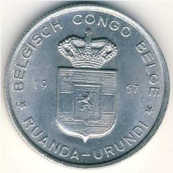 Монета > 1франк, 1957-1960 - Руанда-Урунди  - obverse