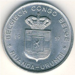Монета > 1франк, 1957-1960 - Руанда-Урунди  - reverse