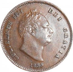 Moneda > ⅓farthing, 1835 - Reino Unido  - obverse