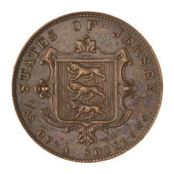 Coin > 1/52 shilling, 1841 - Jersey  - obverse