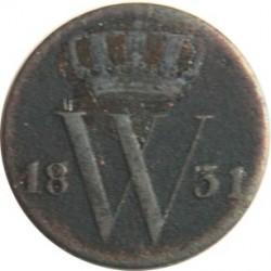 Moneda > ½cent, 1819-1837 - Països Baixos  - obverse