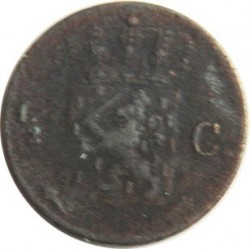 Moneda > ½cent, 1819-1837 - Països Baixos  - reverse
