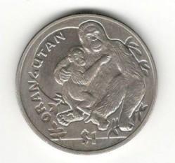 Moneta > 1dollaro, 2010 - Sierra Leone  (Scimmie - Orango) - obverse