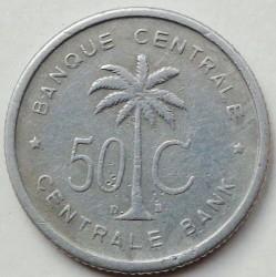 Монета > 50сантимов, 1954-1955 - Руанда-Урунди  - reverse