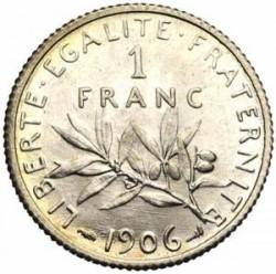 سکه > 1فرانک, 1906 - فرانسه  - reverse