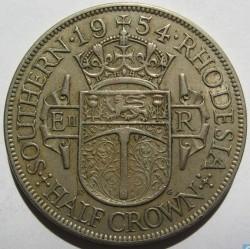 Coin > ½crown, 1954 - Southern Rhodesia  - reverse