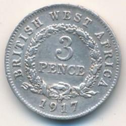 Moneda > 3pence, 1913-1919 - Àfrica Occidental Britànica  - reverse