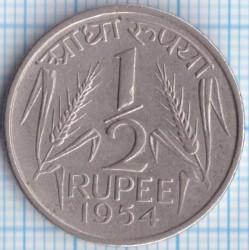 Монета > ½рупии, 1950-1956 - Индия  - reverse