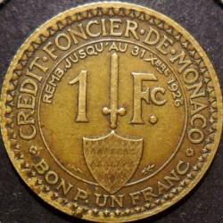 Minca > 1frank, 1924 - Monako  - reverse
